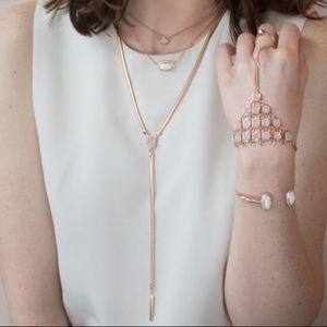 Kendra Scott rose gold Starla necklace